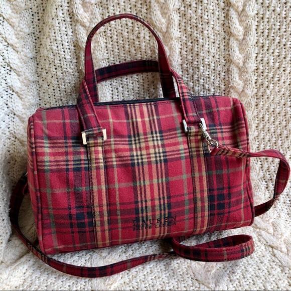 76711b349b Lauren Ralph Lauren Handbags - Vintage LRL Lauren Ralph Lauren Plaid  Satchel Bag